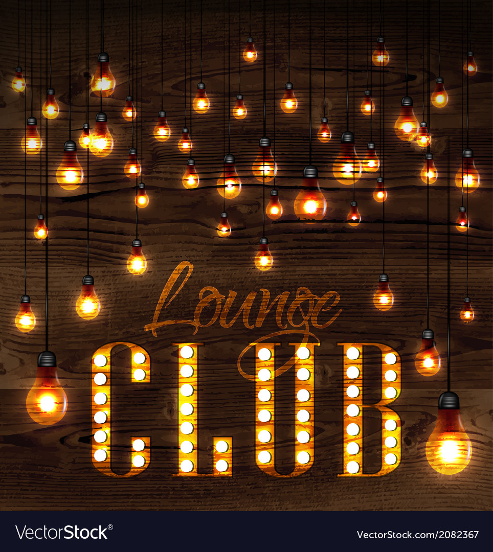 Lounge club glowing lights vector | Price: 1 Credit (USD $1)