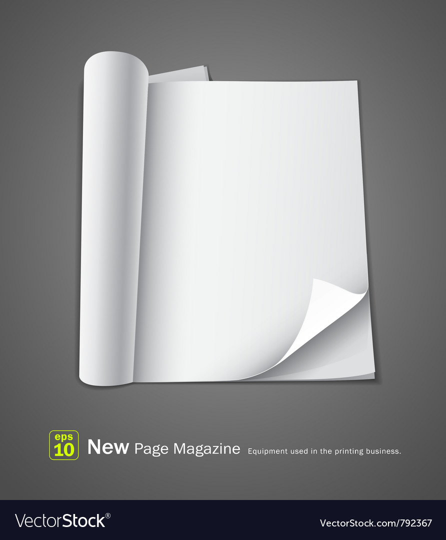 Open new page magazine vector | Price: 1 Credit (USD $1)