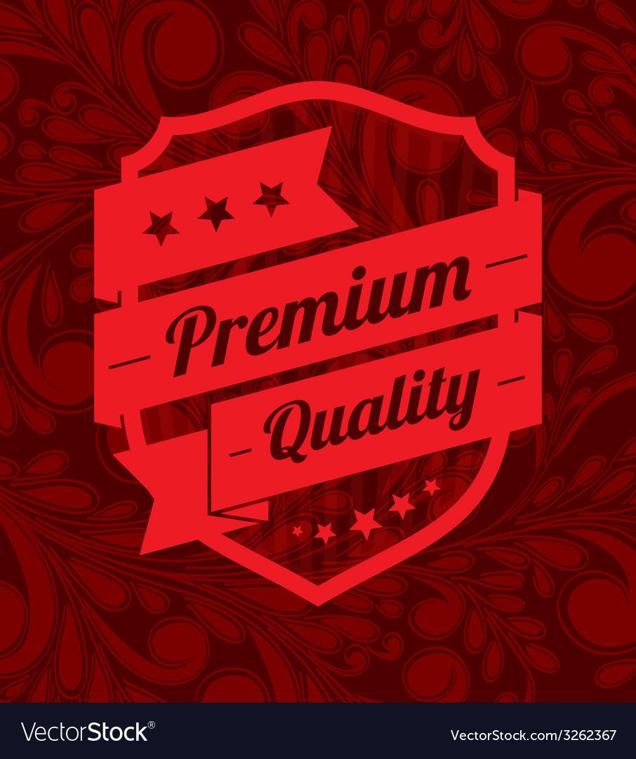 Premium label design over floral background vector   Price: 1 Credit (USD $1)
