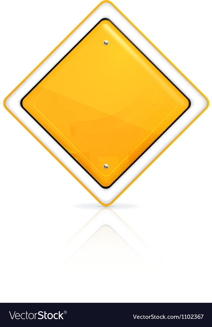 Priority road sign vector | Price: 1 Credit (USD $1)