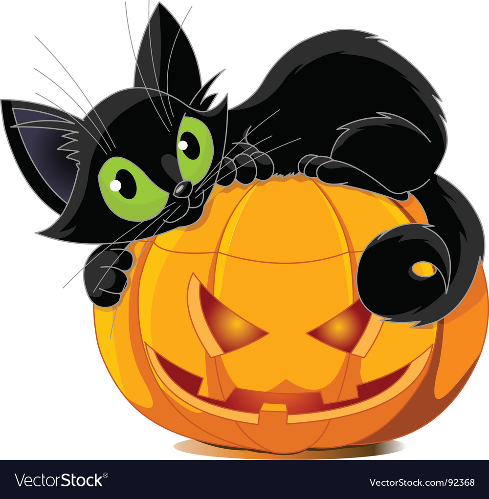 Black cat vector | Price: 3 Credit (USD $3)