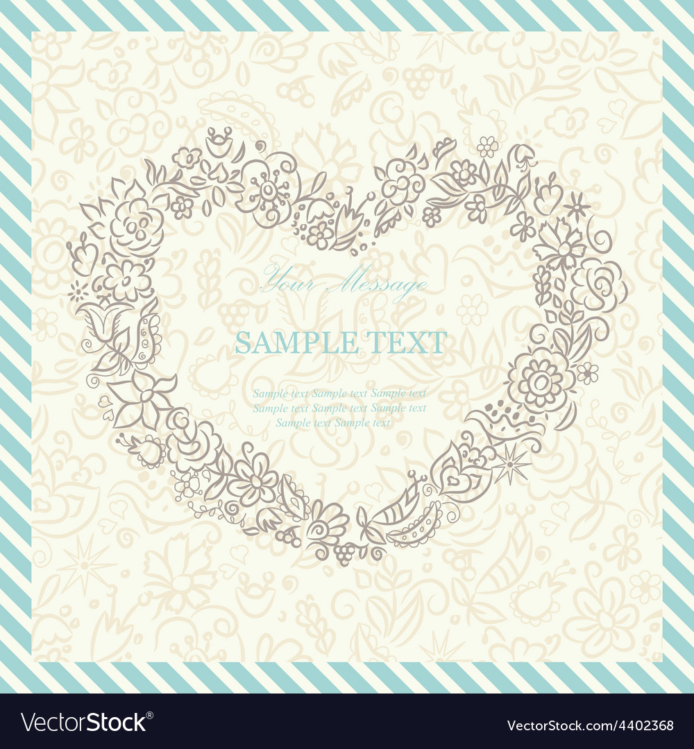 Card with floral hard vector | Price: 1 Credit (USD $1)