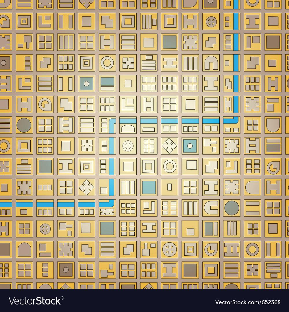 Grid city vector | Price: 1 Credit (USD $1)