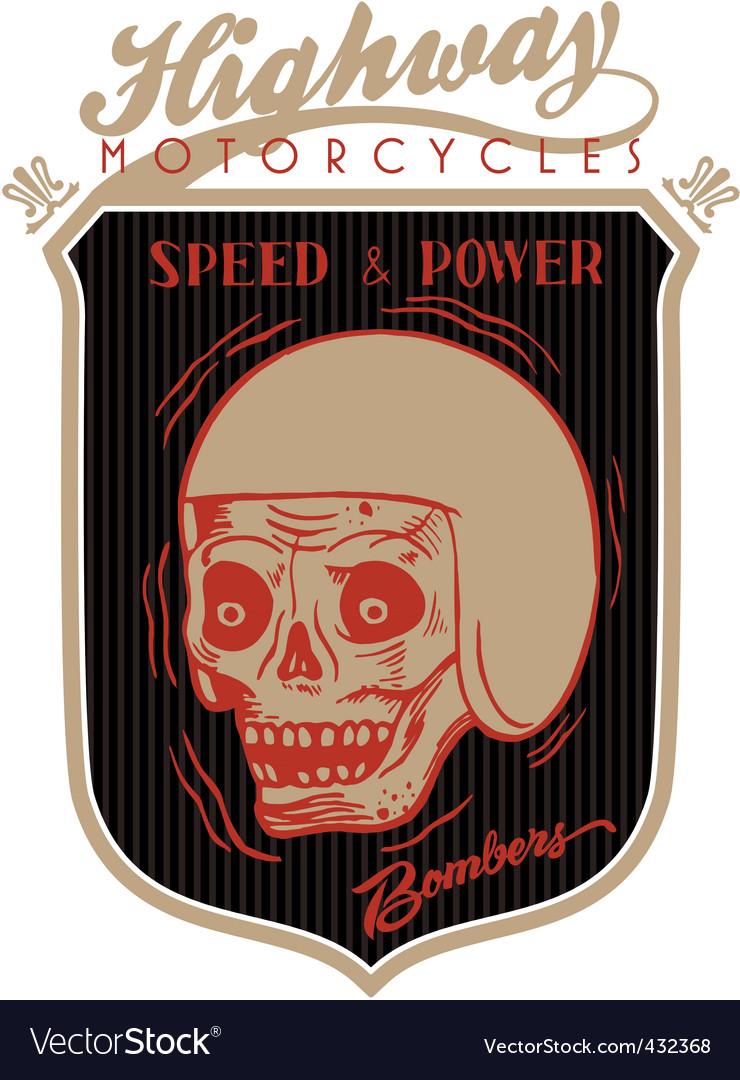 Highway skull vector | Price: 1 Credit (USD $1)