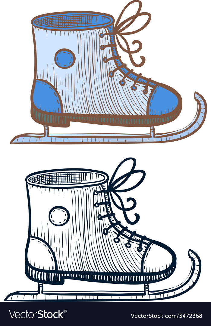 Ice-skating shoe vector | Price: 1 Credit (USD $1)