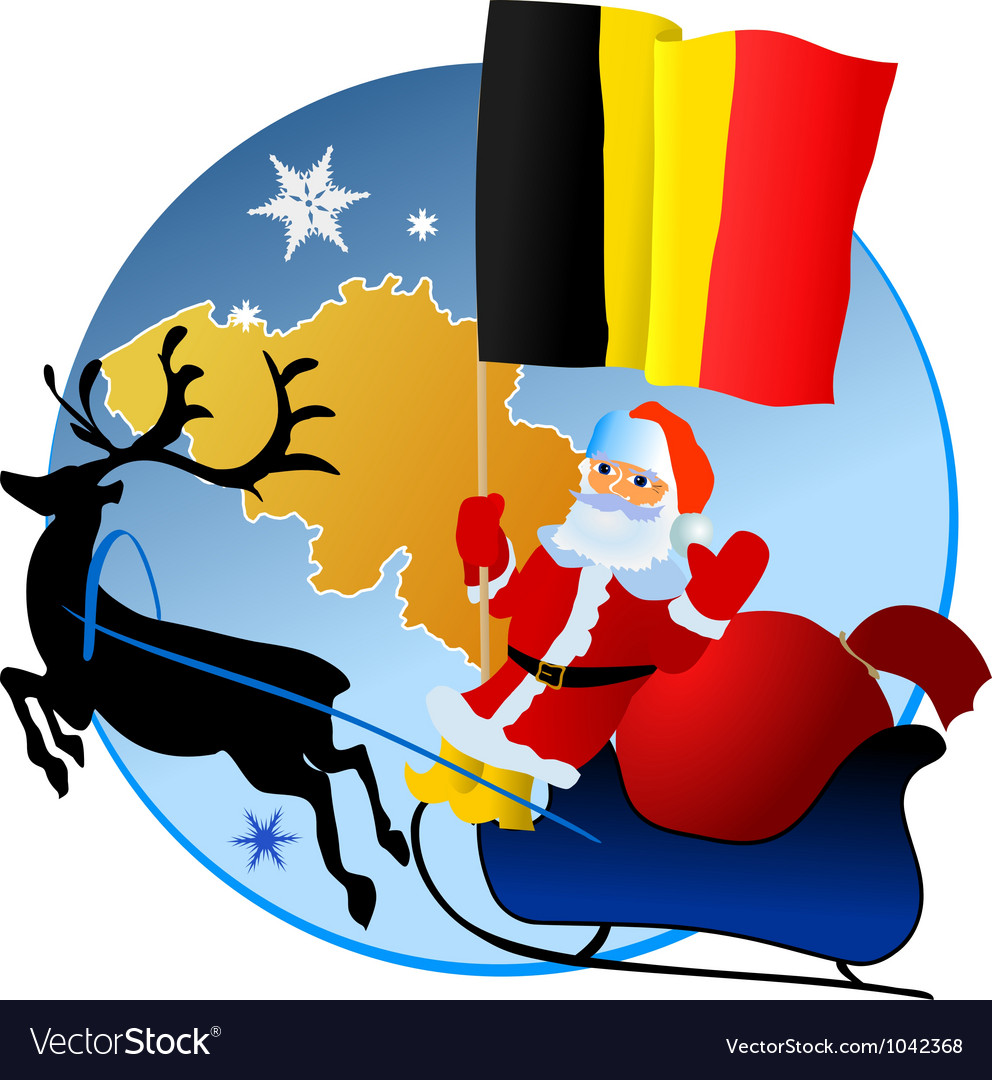 Merry christmas belgium vector | Price: 1 Credit (USD $1)