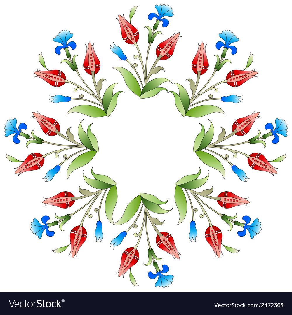Ottoman art flowers twenty five vector | Price: 1 Credit (USD $1)