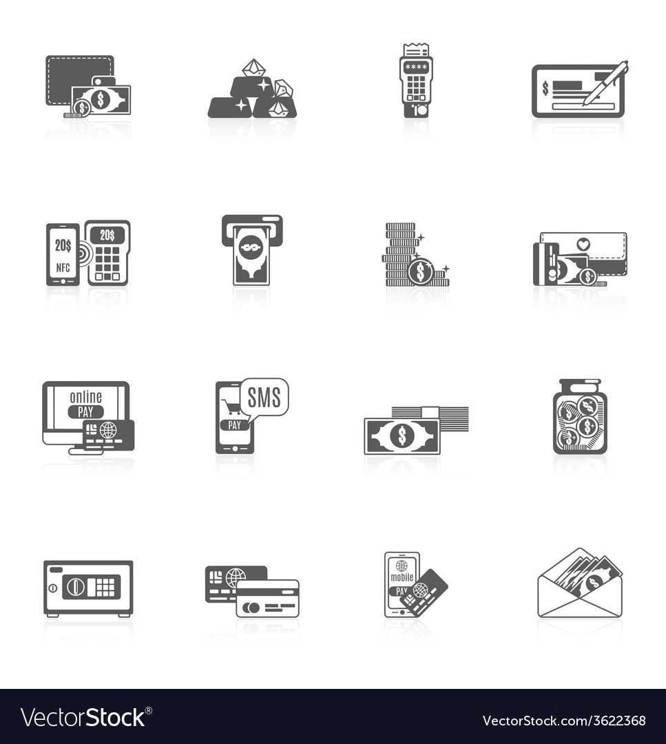 Payment icon set vector | Price: 1 Credit (USD $1)