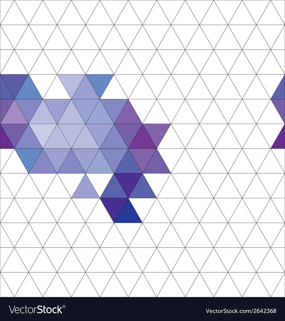 Tile triangle pattern or flat background vector | Price: 1 Credit (USD $1)