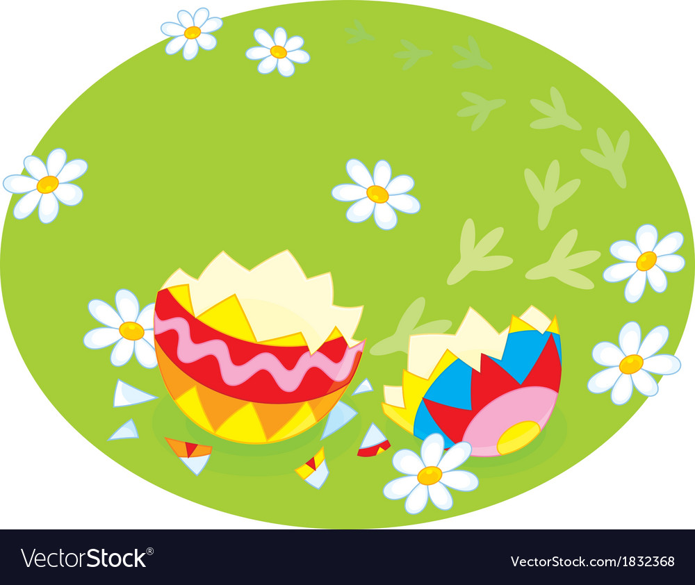 Traces of an easter chick vector | Price: 1 Credit (USD $1)