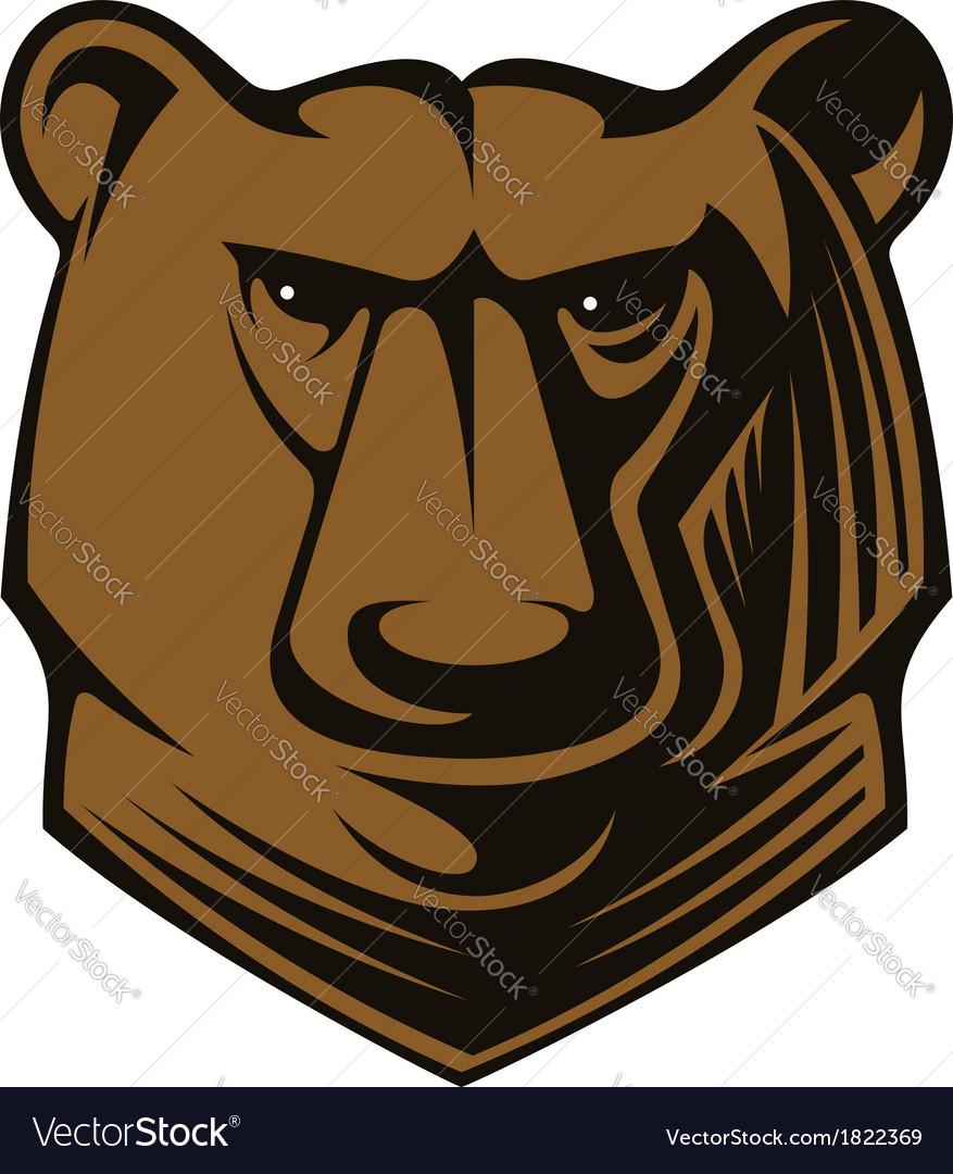 Big brown bear head vector | Price: 1 Credit (USD $1)