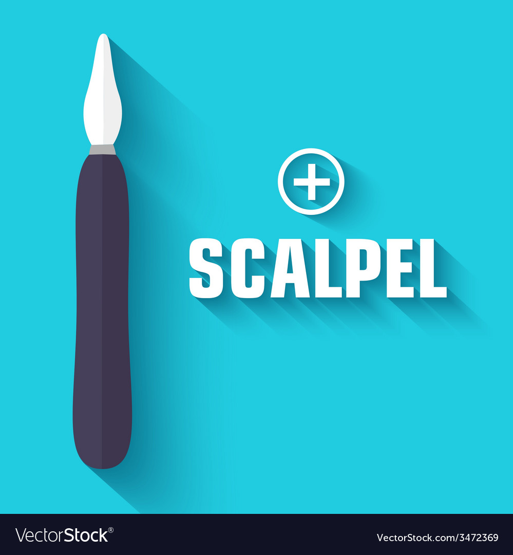 Flat scalpel background concept vector | Price: 1 Credit (USD $1)