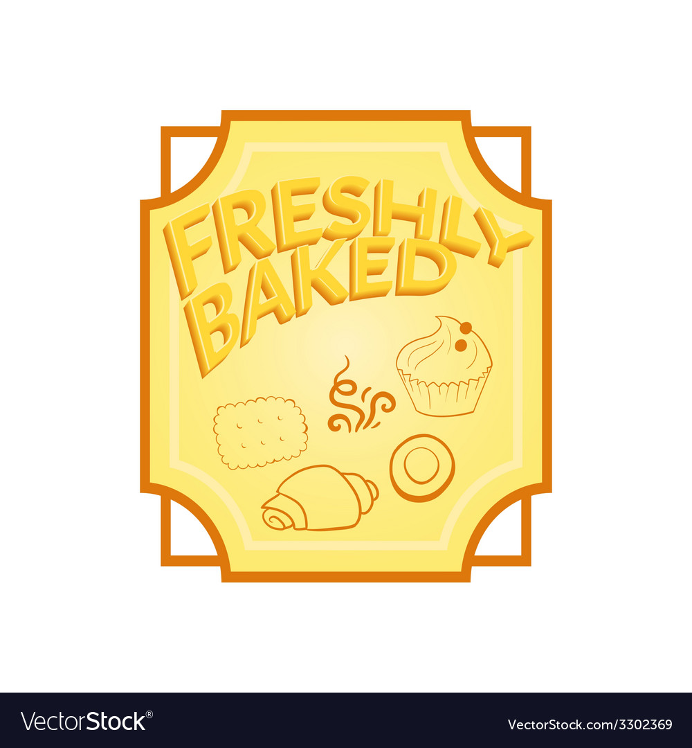 Fresh baked label vector | Price: 1 Credit (USD $1)