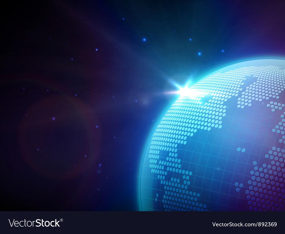 Globe in space vector | Price: 3 Credit (USD $3)