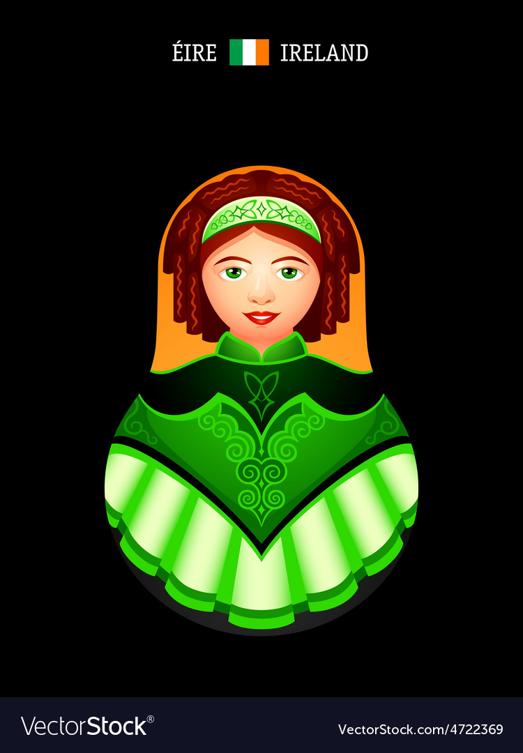 Matryoshka ireland vector