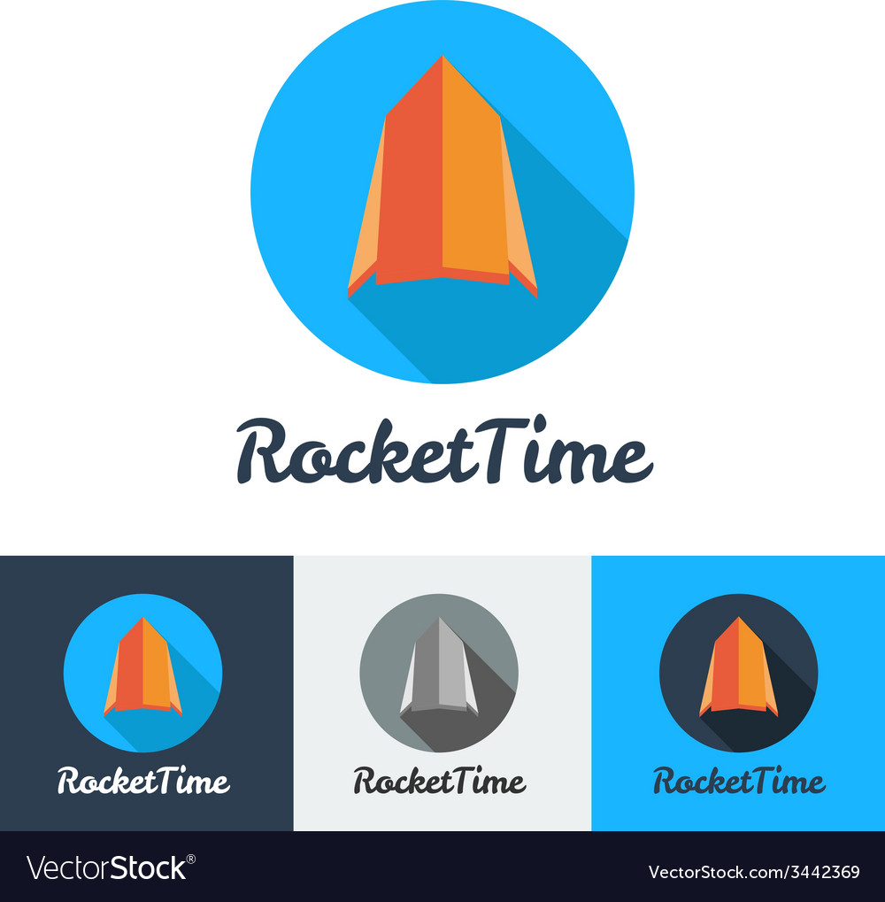 Modern flat rocket minimalistic logo vector   Price: 1 Credit (USD $1)