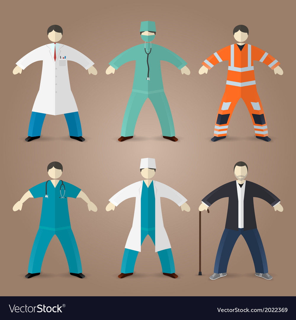 Professions set of medical doctors vector | Price: 1 Credit (USD $1)