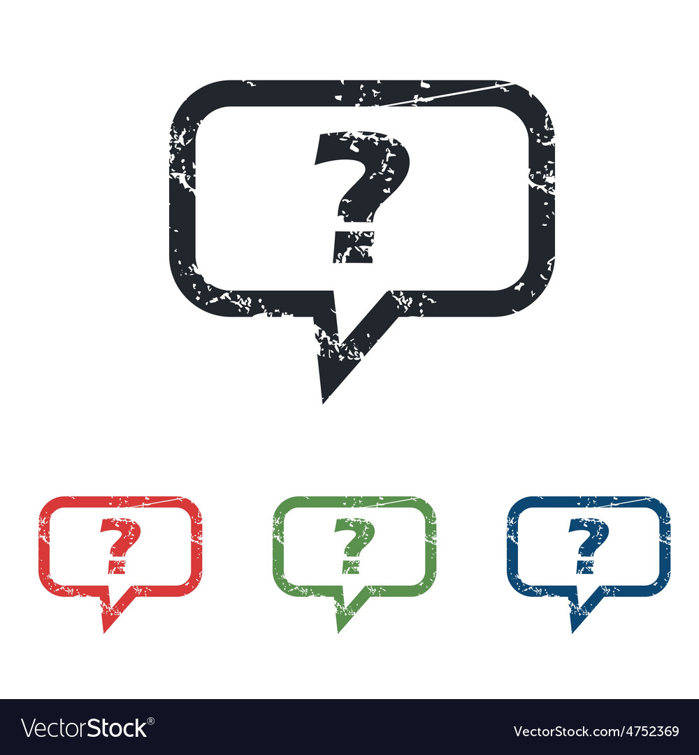 Question grunge icon set vector | Price: 1 Credit (USD $1)