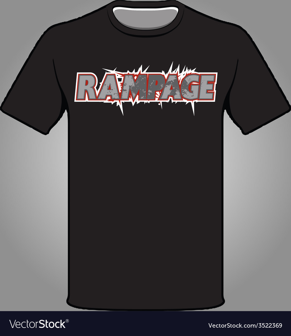 Rampage t-shirt vector | Price: 1 Credit (USD $1)