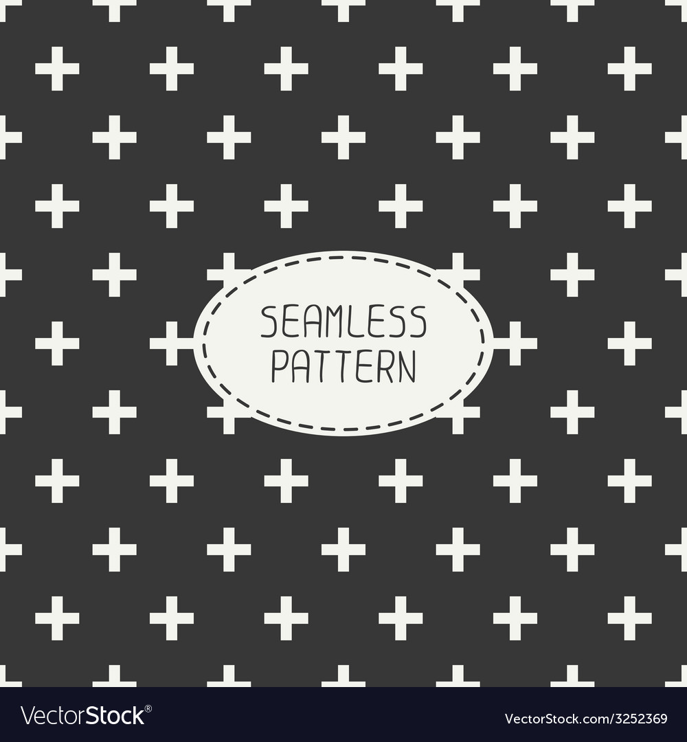 Seamless retro vintage geometrical hipster pattern vector | Price: 1 Credit (USD $1)
