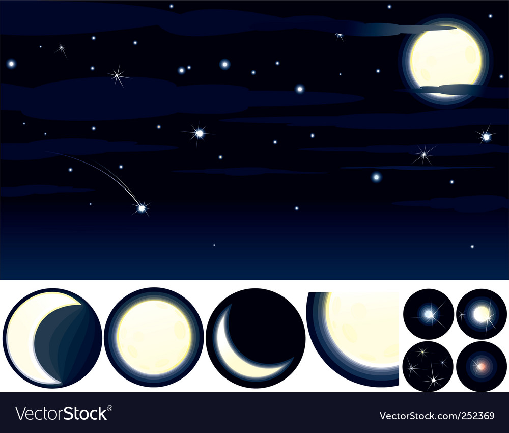 Starry night vector | Price: 3 Credit (USD $3)