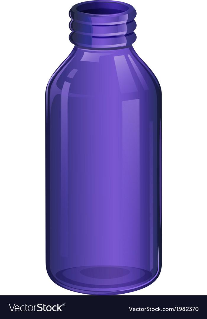 A violet medicine bottle vector | Price: 1 Credit (USD $1)