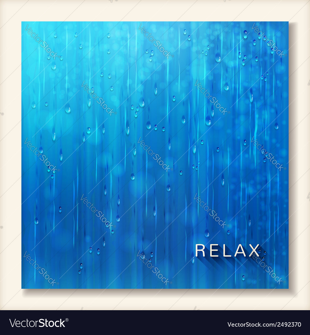 Blue shiny rain abstract water background design vector | Price: 1 Credit (USD $1)