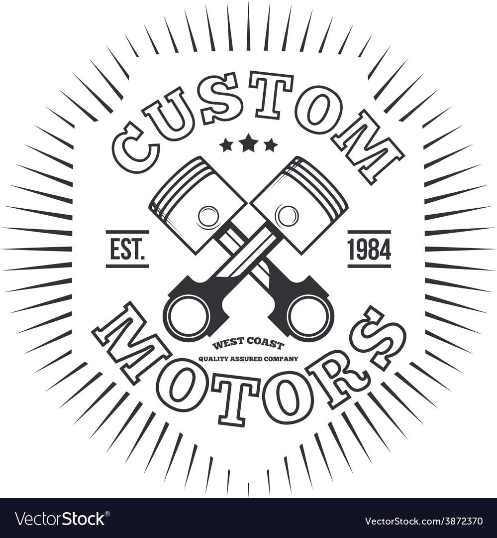 Custom motors t-shirt graphics vector   Price: 1 Credit (USD $1)