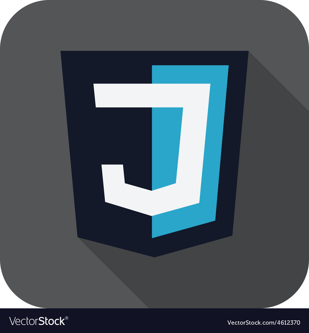 Dark blue shield with j vector