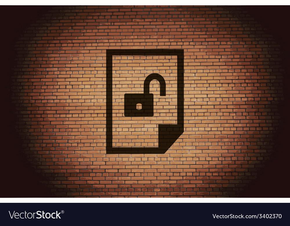 File unlocked icon symbol flat modern web design vector | Price: 1 Credit (USD $1)