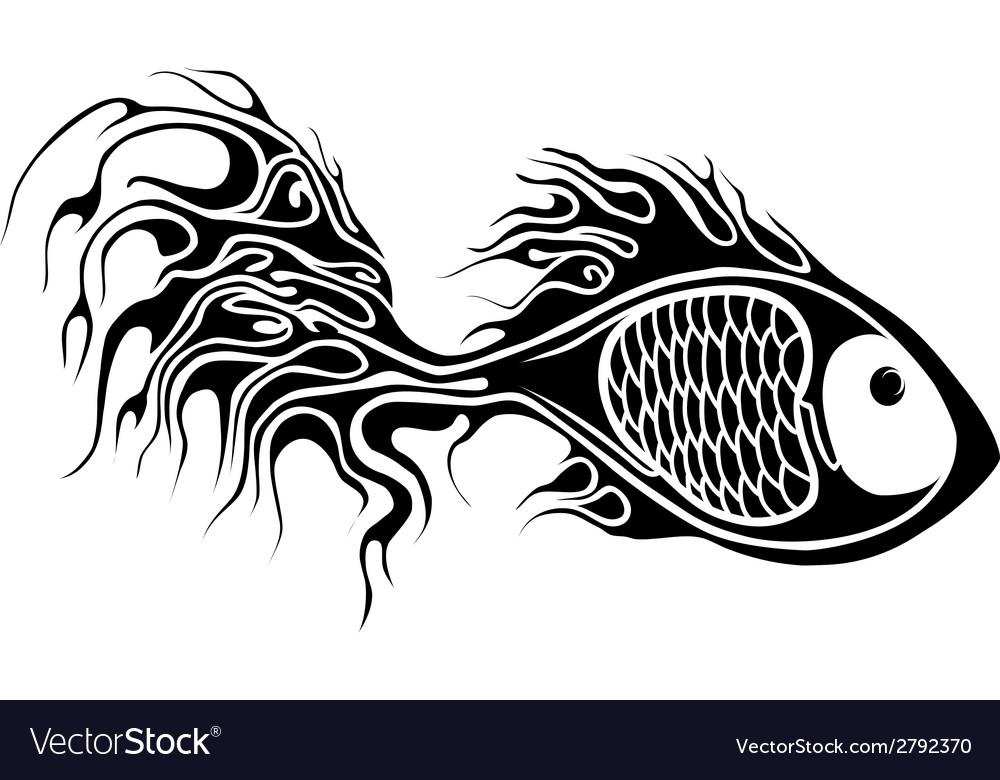 Fish tattoo vector | Price: 1 Credit (USD $1)