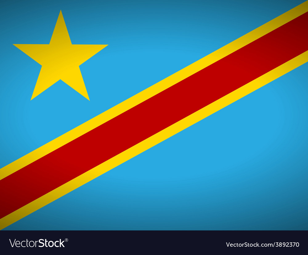 Flag of democratic republic of the congo vector | Price: 1 Credit (USD $1)
