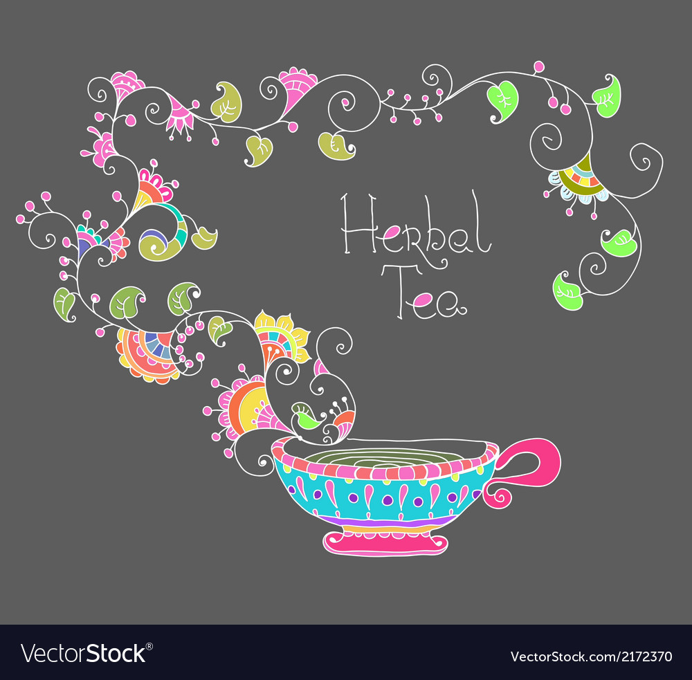 Herbal tea vector | Price: 1 Credit (USD $1)