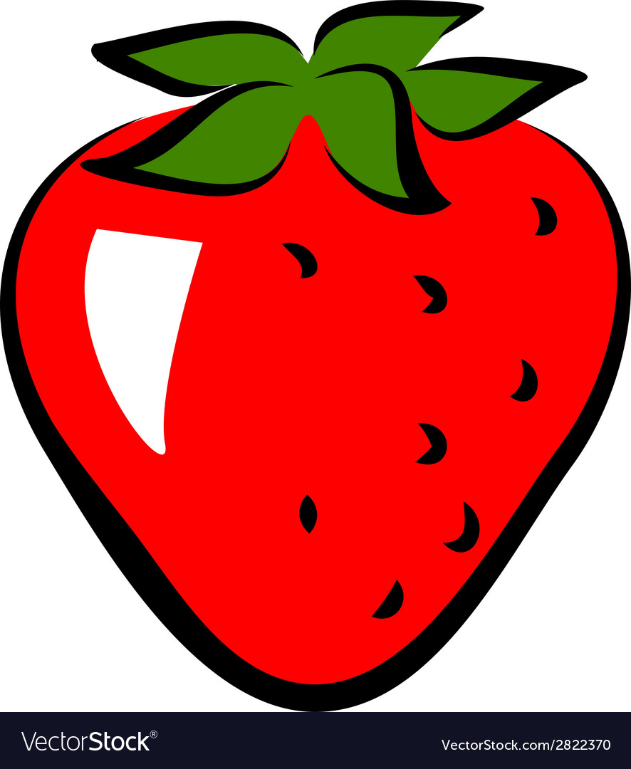 Icon of strawberry vector | Price: 1 Credit (USD $1)