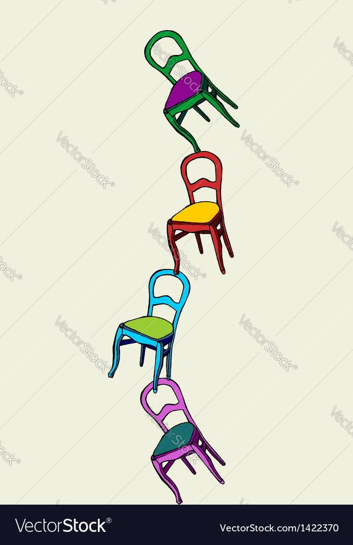 Juggling chairs balance vector | Price: 1 Credit (USD $1)