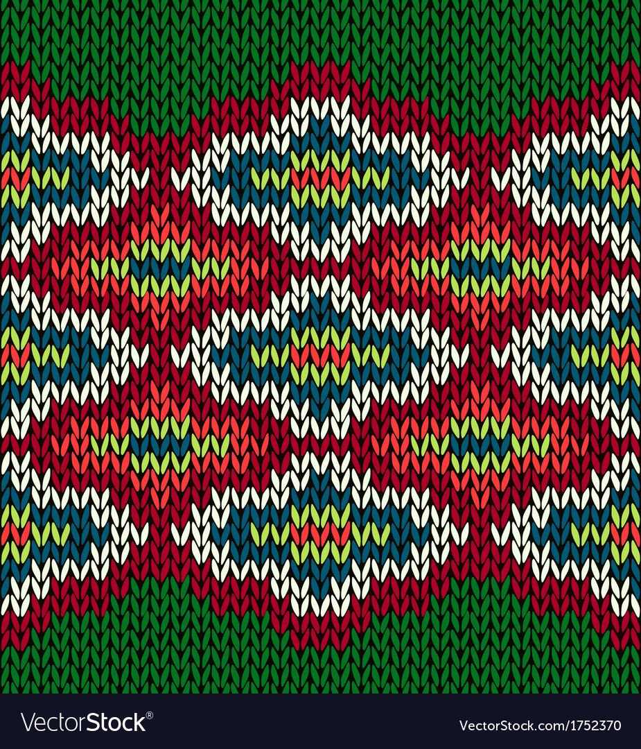 Knit seamless jacquard ornament pattern vector | Price: 1 Credit (USD $1)