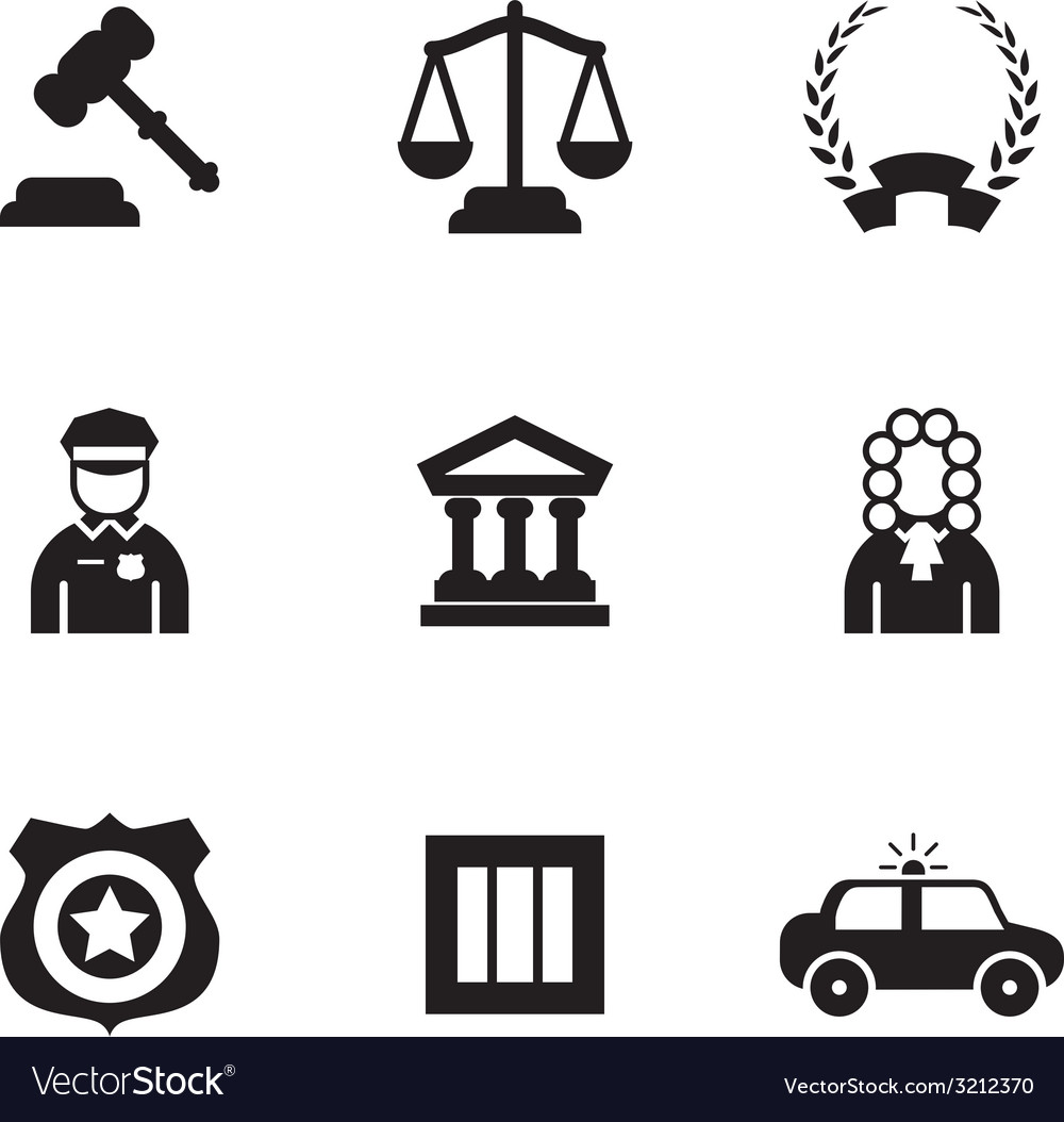 Law icons vector   Price: 1 Credit (USD $1)