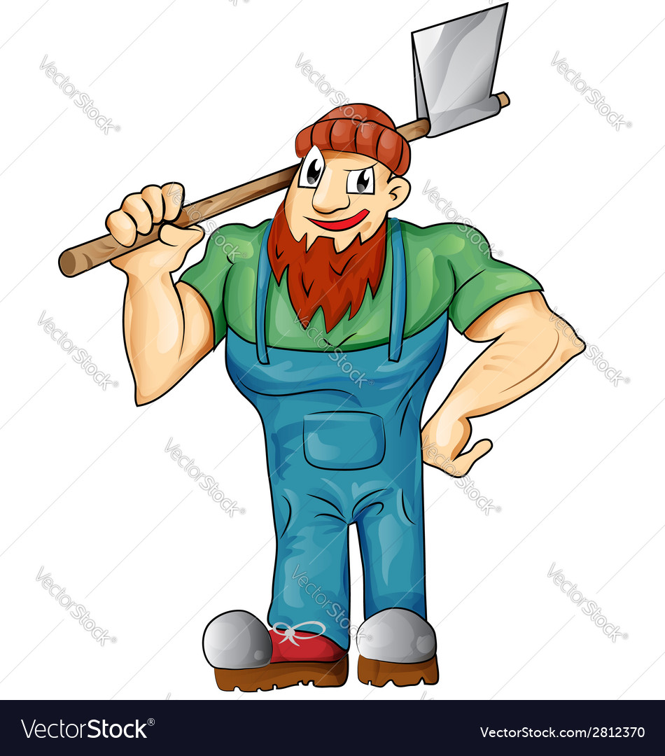 Lumberjack cartoon isolated vector | Price: 1 Credit (USD $1)
