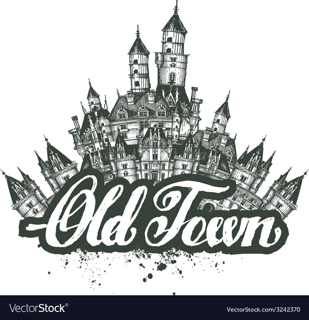 Old town  sketch artwork vector | Price: 1 Credit (USD $1)