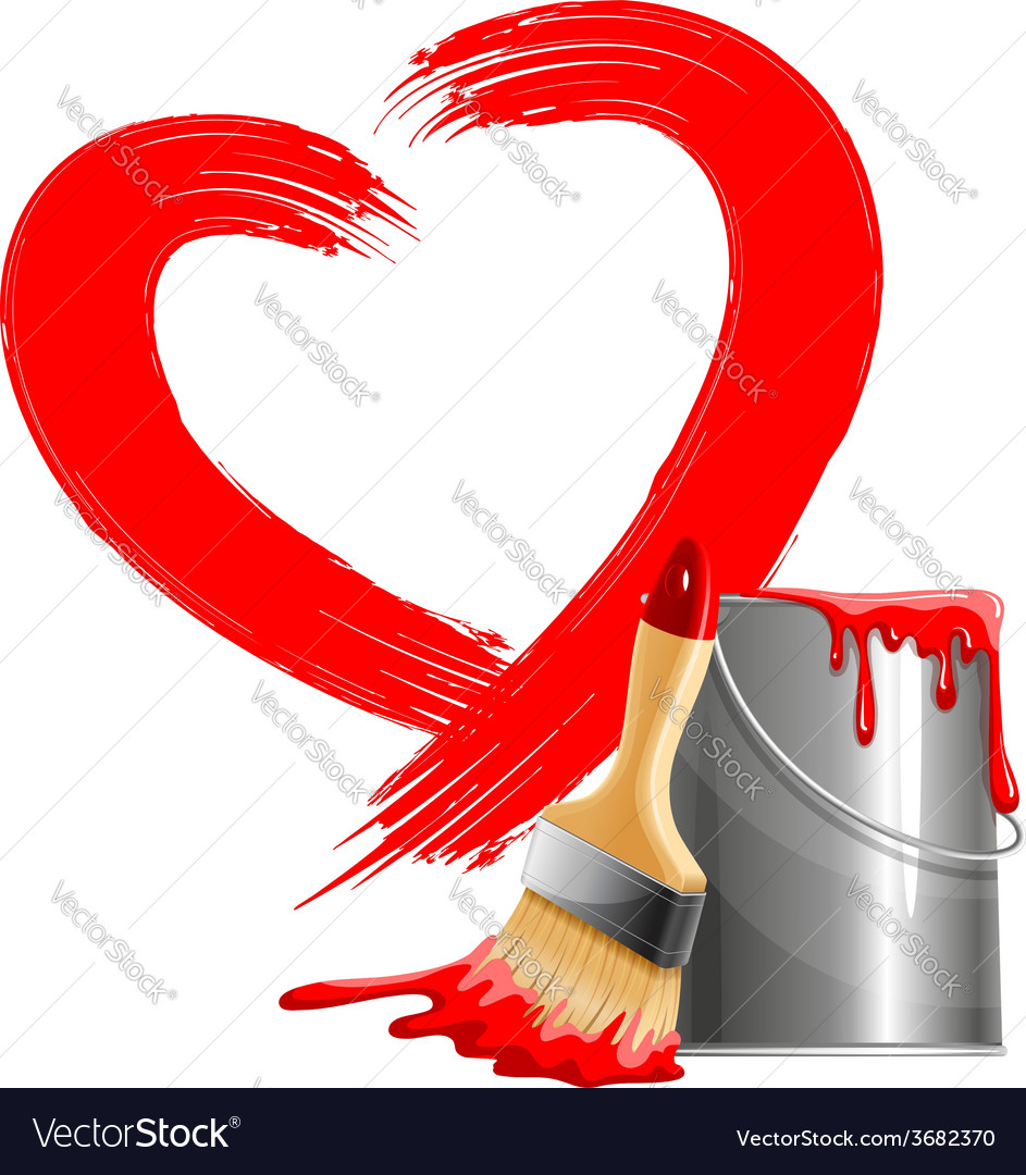 Painted heart vector | Price: 1 Credit (USD $1)