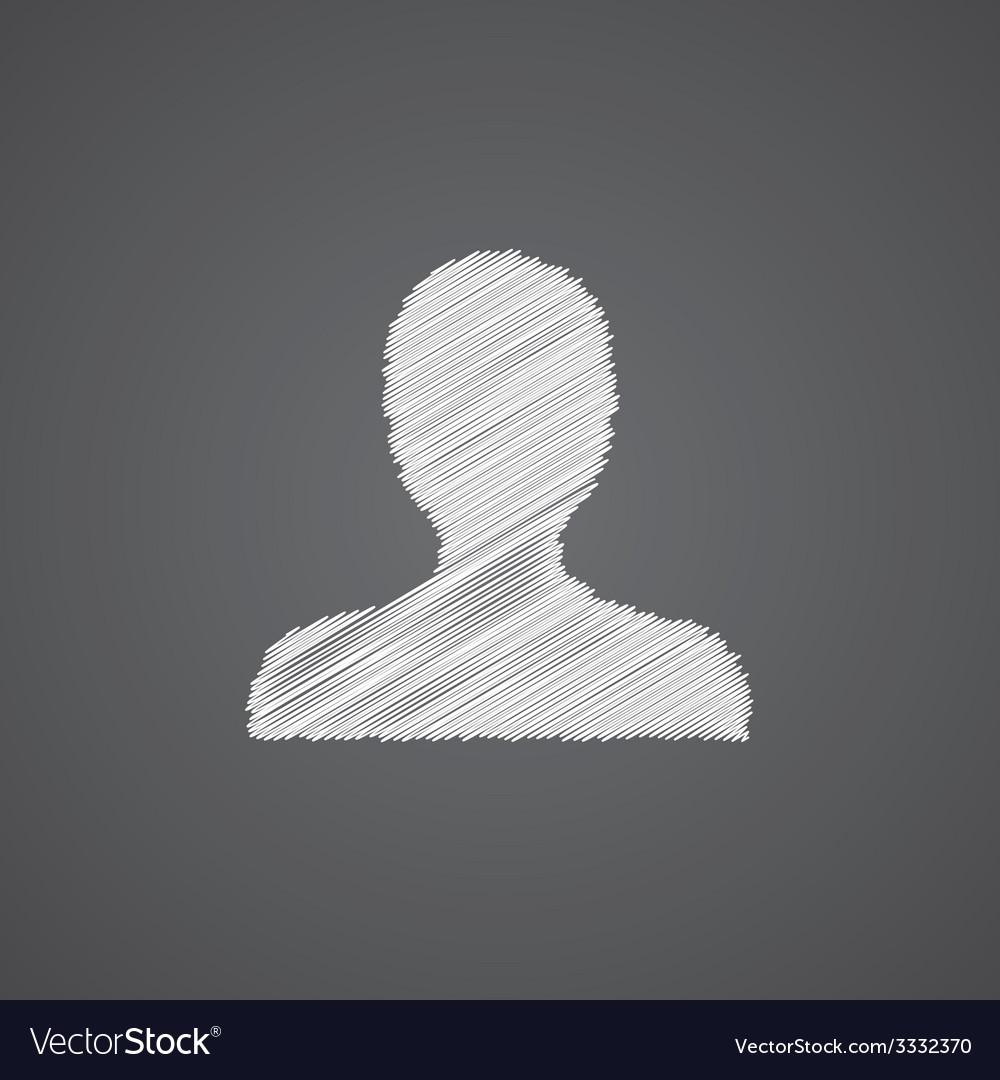 Profile sketch logo doodle icon vector | Price: 1 Credit (USD $1)