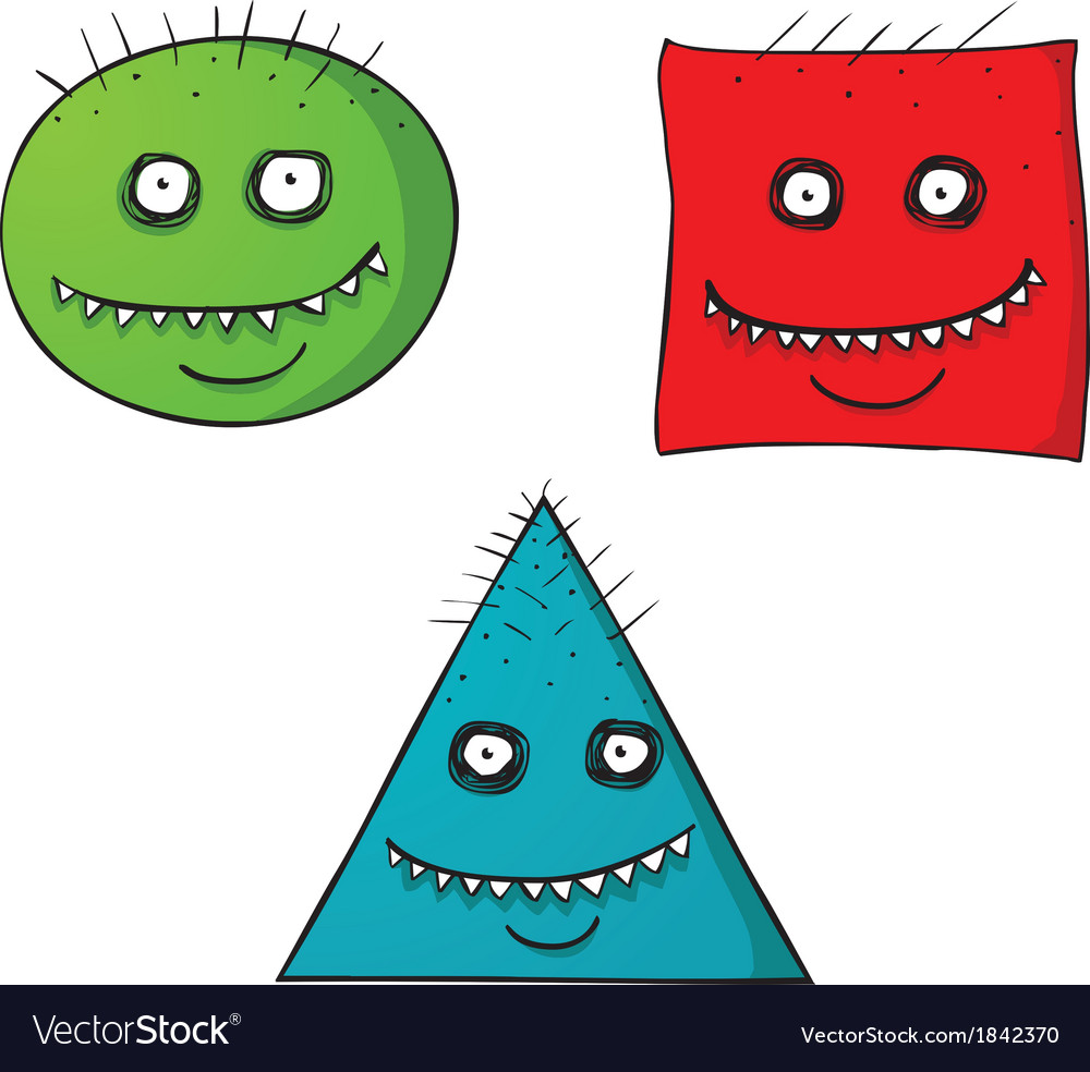 Scary shape faces vector | Price: 1 Credit (USD $1)