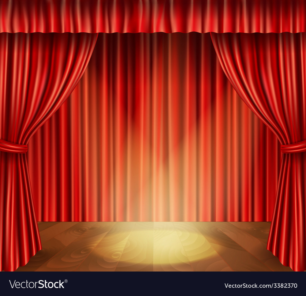 Theater stage background vector | Price: 1 Credit (USD $1)