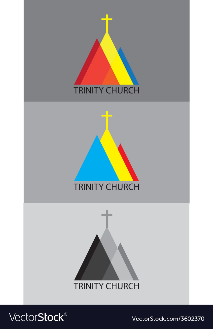 Trinity church log vector | Price: 1 Credit (USD $1)