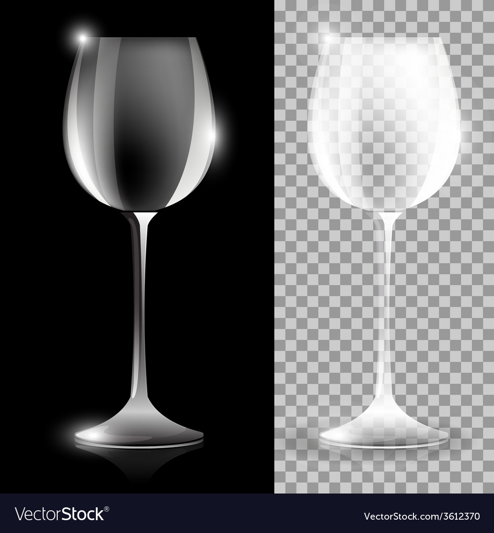 Two wine glass vector