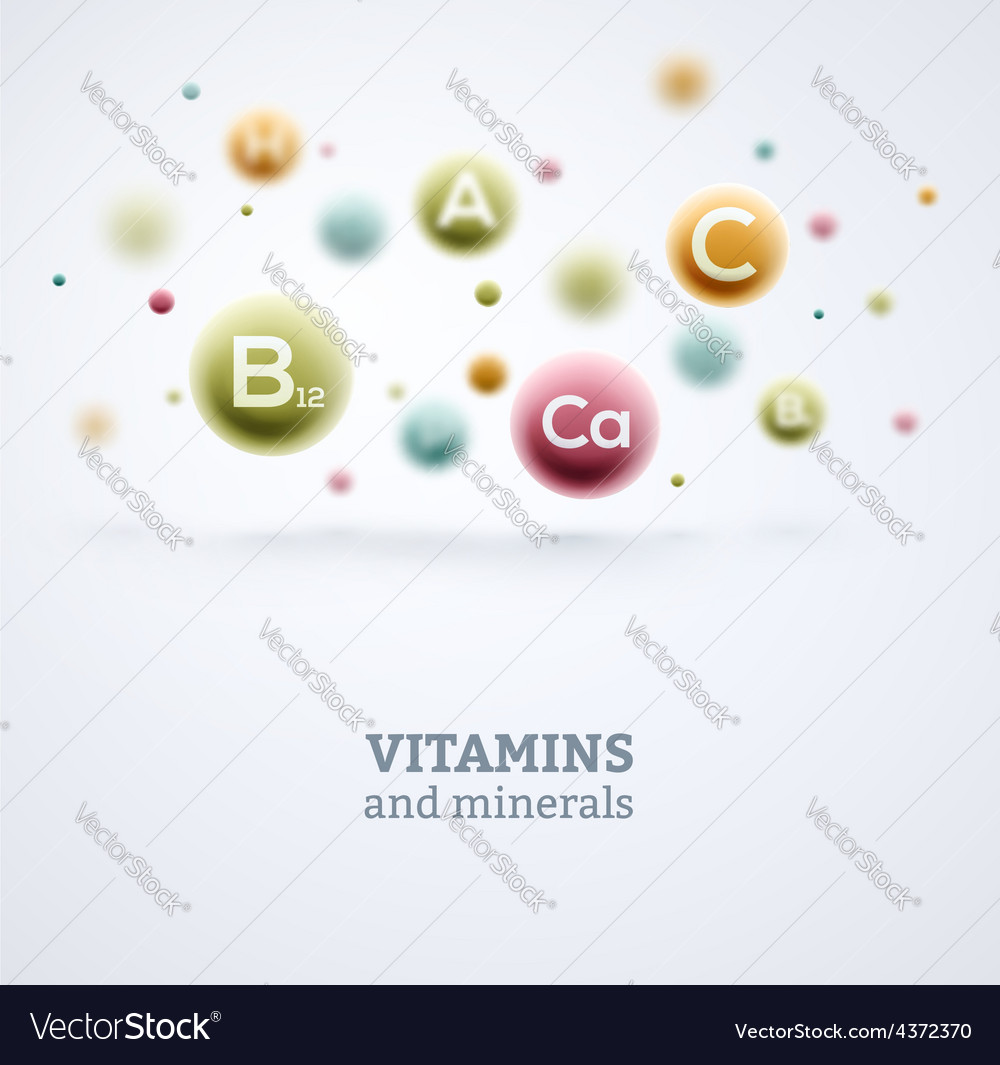 Vitamins and minerals vector | Price: 1 Credit (USD $1)