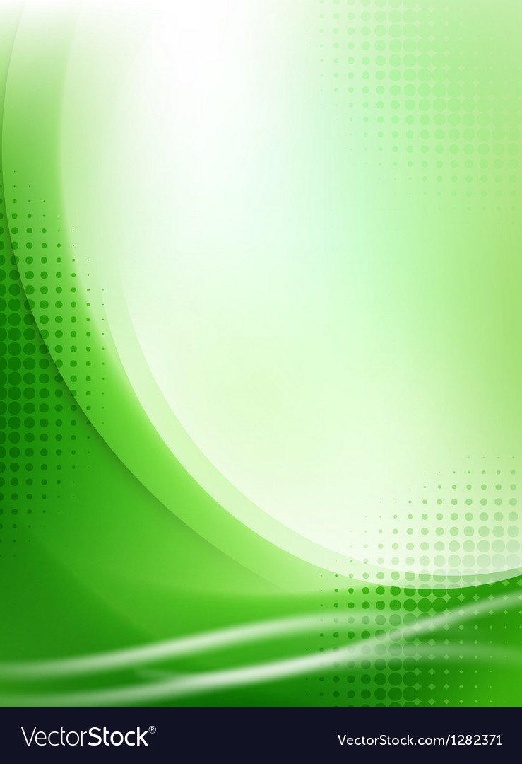 Abstract green flowing background vector | Price: 1 Credit (USD $1)