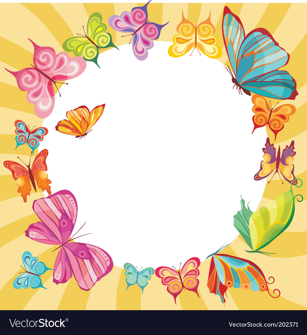 Butterfly card vector | Price: 3 Credit (USD $3)