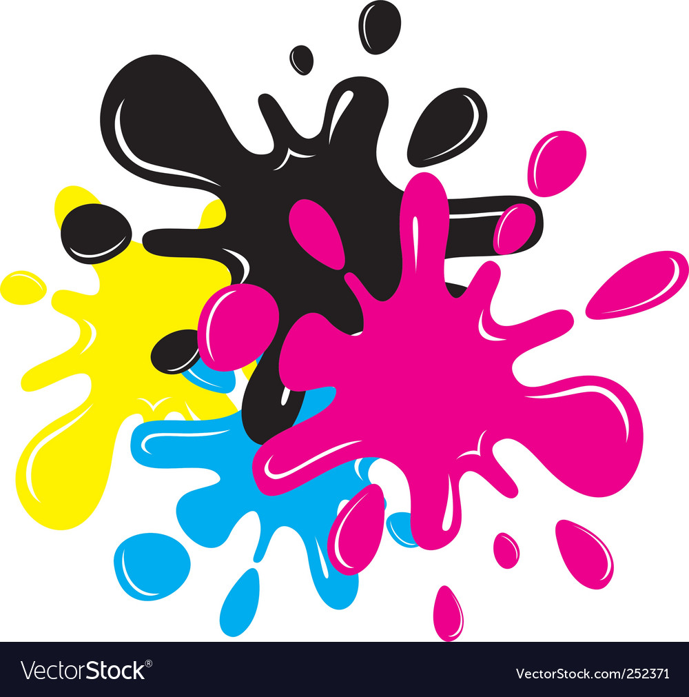 Cmyk splatters vector | Price: 1 Credit (USD $1)