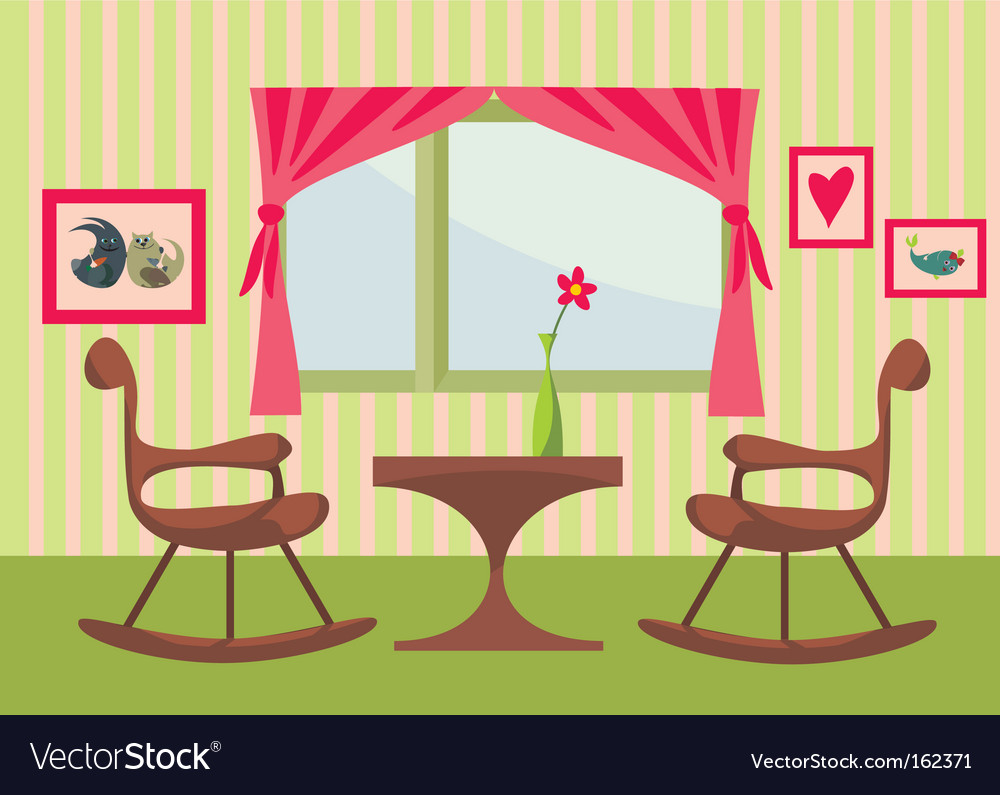 Cute interior vector | Price: 1 Credit (USD $1)